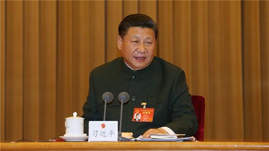 习近平出席解放军代表团全体会议并发表重要讲话