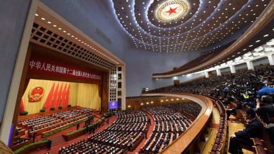 张德江宣布十二届全国人大五次会议闭幕